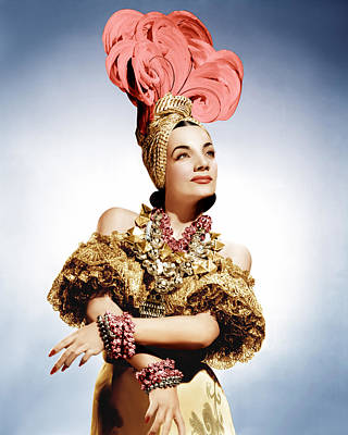Gold Lame Photograph - That Night In Rio, Carmen Miranda, 1941 by Everett