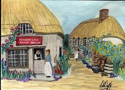 Thatched Village Original by Deborah Duffy