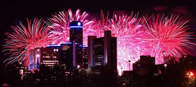 The 54th Annual Target Fireworks In Detroit Michigan Print by Gordon Dean II