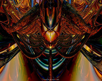 Abstract Digital Art - The Abstract Demon Lair Exposed Fx  by G Adam Orosco