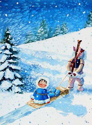 The Aerial Skier - 1 Print by Hanne Lore Koehler