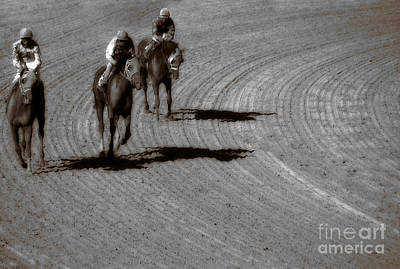 Horse Racing Photograph - The After Burn  by Steven  Digman