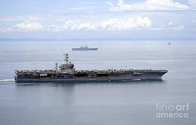 The Aircraft Carrier Uss George Print by Stocktrek Images