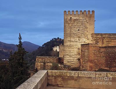 The Alcazaba The Alhambra Print by Guido Montanes Castillo