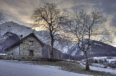 Stone House Photograph - The Alps In Winter by Joana Kruse