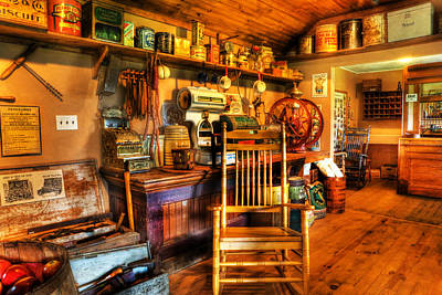 The American General Store -  - Vintage - Nostalgia Print by Lee Dos Santos
