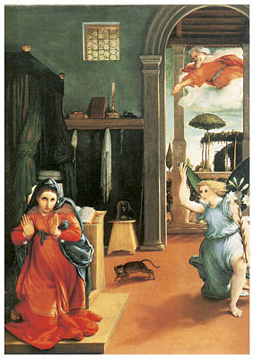 The Annunciation Print by Lorenzo Lotto