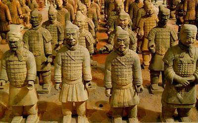 Terra Cotta Soldiers Photograph - The Army Of The Afterlife by Rachel E Moniz