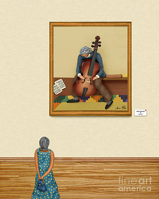 The Art Critic 2 Print by Anne Klar