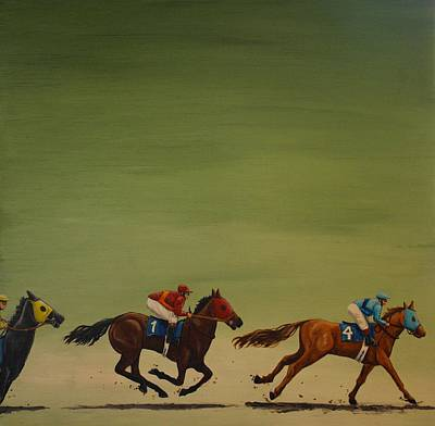 Horse Painting - The Art Of Racing by Jennifer Lynch