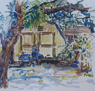 The Artist's Shed Print by Kellie Straw