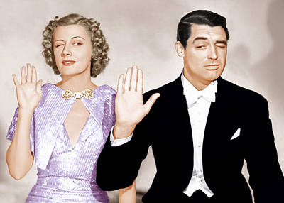 Incol Photograph - The Awful Truth, From Left Irene Dunne by Everett
