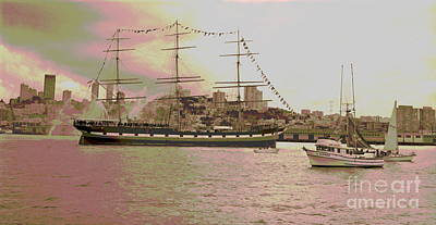 Historic Schooner Photograph - The Balclutha Leaves Pier 41 by Padre Art