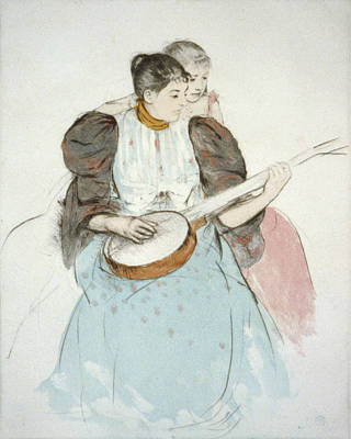 The Banjo Lesson, Painting By Mary Print by Everett