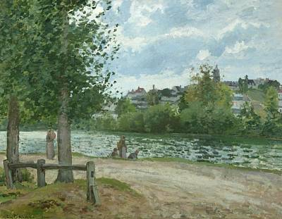 The Banks Of The Oise At Pontoise Print by Camille Pissarro