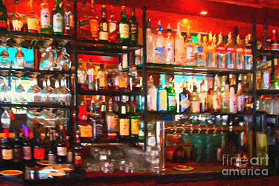Hangout Digital Art - The Bar by Wingsdomain Art and Photography