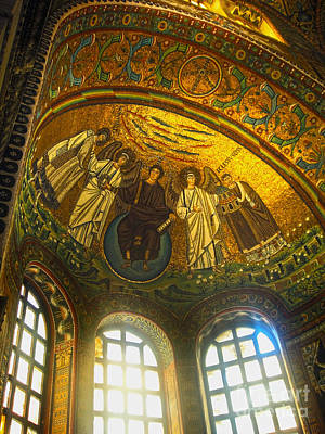 The Basilica Di San Vitale In Ravenna - 02 Print by Gregory Dyer