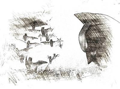 the Bats Print by Hywel Morgan
