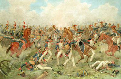 Lancer Painting - The Battle Of Vitoria June 21st 1813 by John Augustus Atkinson