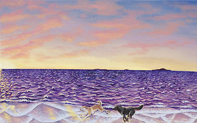 The Beach Print by Beth Davies