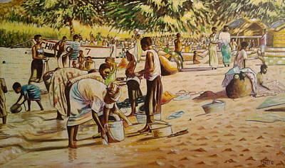 The Beach Print by Nisty Wizy