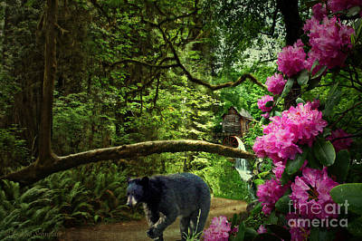 Grist Mill Digital Art - The Bear Went Over The Mountain by Lianne Schneider