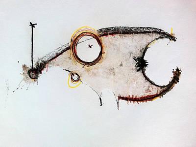 Handmade Paper Mixed Media - The Beasts 5 by Mark M  Mellon