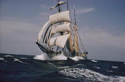 Hamptons Photograph - The Belgian School Ship Mercator by J. Baylor Roberts