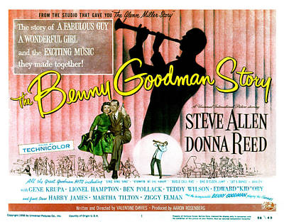 The Benny Goodman Story, Donna Reed Print by Everett