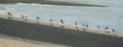 Painting - The Birds Line by Amy Bernays