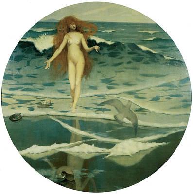 The Birth Of Venus Print by William Stott
