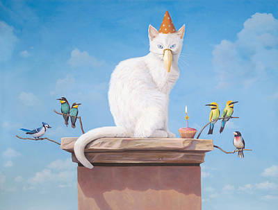 Metaphysical Painting - The Birthday Party by Paul Bond