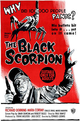 1950s Movies Photograph - The Black Scorpion, Bottom Richard by Everett