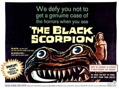 1950s Movies Photograph - The Black Scorpion, On Right Mara by Everett