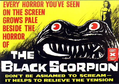 1950s Movies Photograph - The Black Scorpion, Top Right Mara by Everett