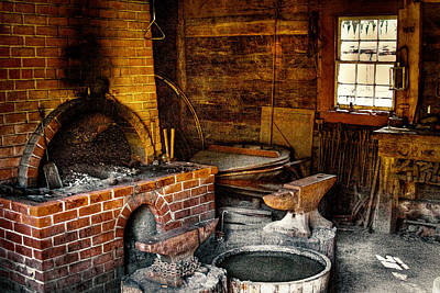 The Blacksmith Shop At Fort Nisqually Print by David Patterson