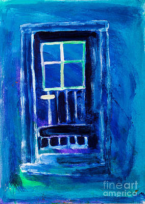 Exit Painting - The Blue Door  by Simon Bratt Photography LRPS