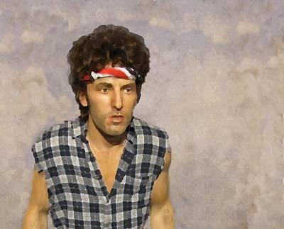 Bruce Springsteen Digital Art - The Boss by David Dehner