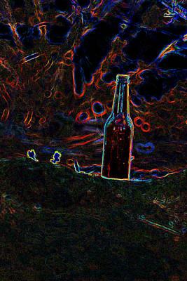 Silhoette Digital Art - The Bottle by Charles Benavidez