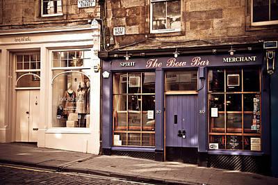 The Bow Bar. Edinburgh. Scotland Print by Jenny Rainbow
