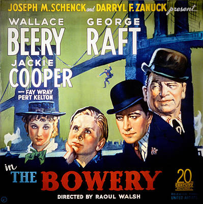 Bowery Photograph - The Bowery, Fay Wray, Jackie Cooper by Everett