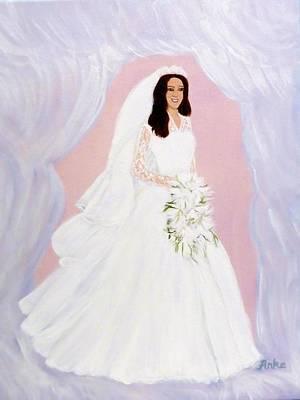 Femal Portrait Painting - The Bride by Anke Wheeler