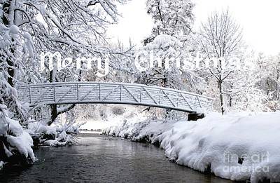 The Bridge - Merry Christmas Print by John Kelly