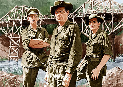 Incol Photograph - The Bridge On The River Kwai, From Left by Everett
