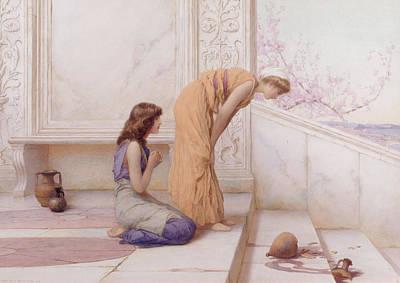 Amphora Painting - The Broken Pot by Henry Ryland