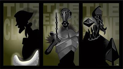 Deathly Hallows Digital Art - The Brothers by Lisa Leeman