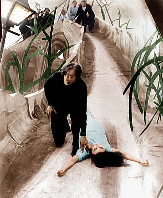 The Cabinet Of Dr. Caligari, From Left Print by Everett