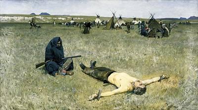 Landmarks Painting - The Captive by Henry Francois Farny