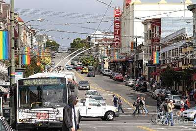 Eureka Valley Photograph - The Castro District In San Francisco . 7d7573 by Wingsdomain Art and Photography