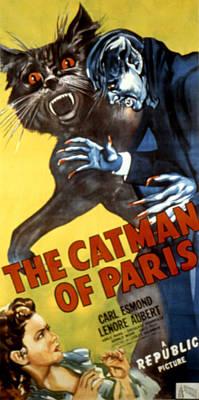 The Catman Of Paris, 1946 Print by Everett